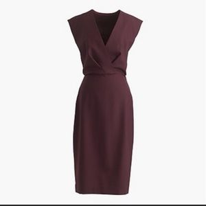 J. Crew purple wine color cocktail dress